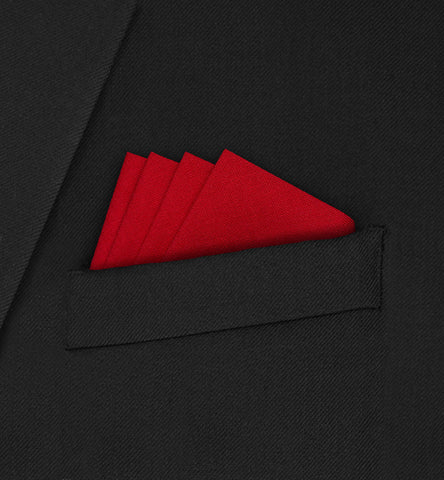 Knightsbridge - Four Point Triangle Red Pocket Square