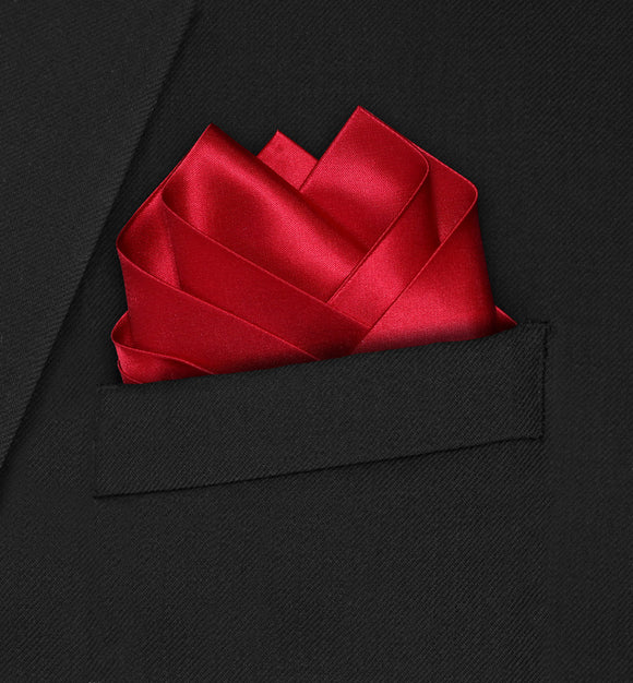Wedding - Red Pocket Square - Hankyz.com