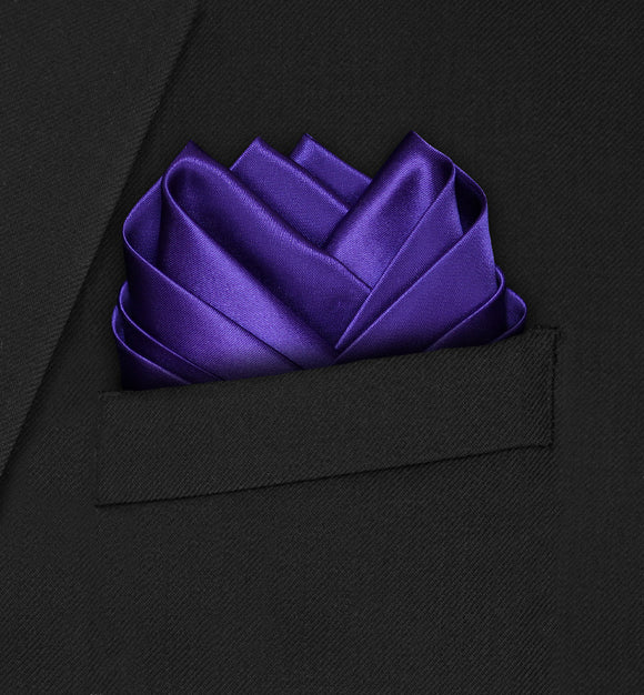 Wedding - Dark Purple Pocket Square - Hankyz.com