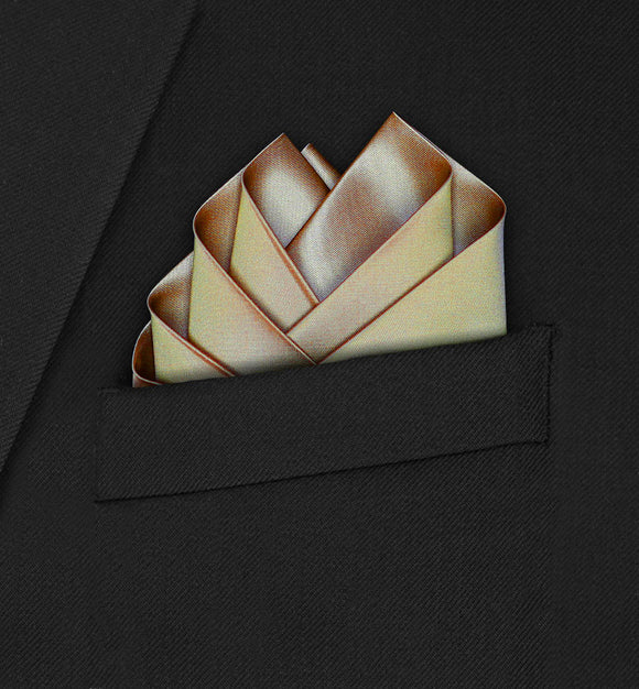 Wedding - Gold Pocket Square - Hankyz.com
