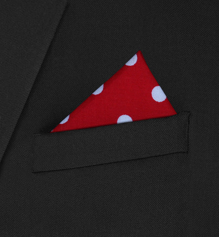 Belgravia - triangle white polka dot on red