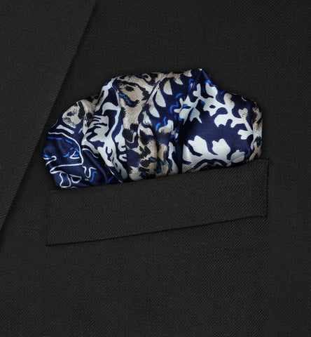 Chelsea - Puffed blue paisley