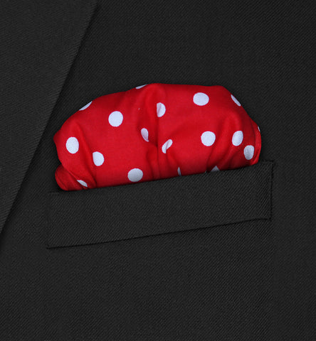 Chelsea - Puffed white polka dot on red