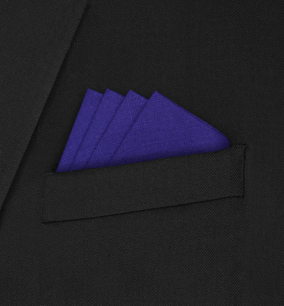 Knightsbridge - Four Point Triangle Dark Purple Pocket Square - Hankyz.com