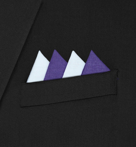 Piccadilly - Four Triangle White & Dark Purple