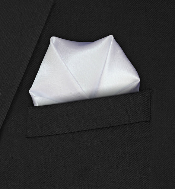 Carnaby - Four Point Puffed White Pocket Square - Hankyz.com