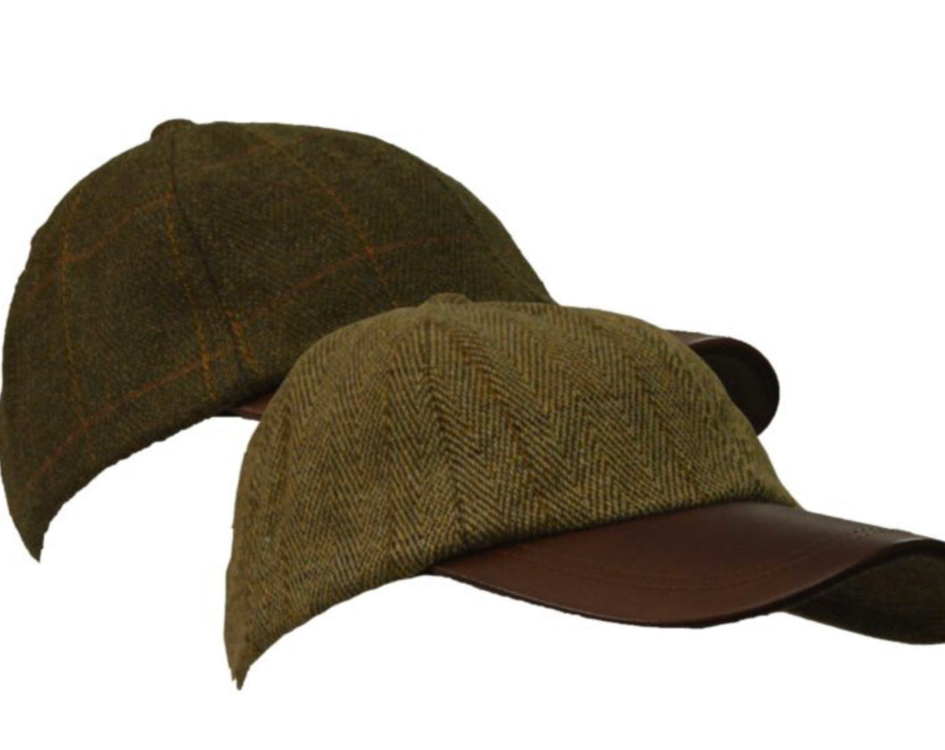 Children's Tweed BB Cap with Leather Peak