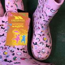 Load image into Gallery viewer, Girls trespass unicorn wellingtons