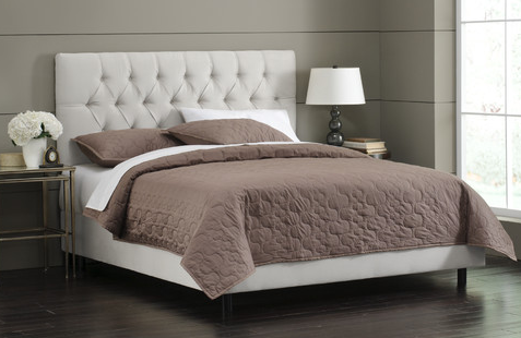 TUFTED BED - White