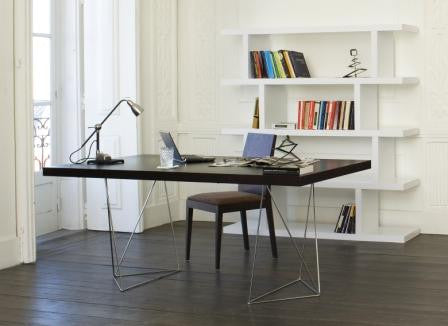 MULTI TABLE WITH TRESTLES - Wengue
