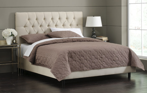 TUFTED BED - Oatmeal