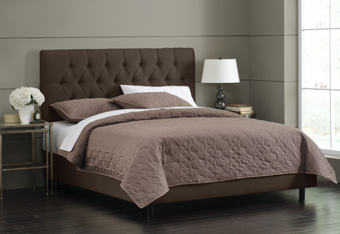 TUFTED BED - Chocolate