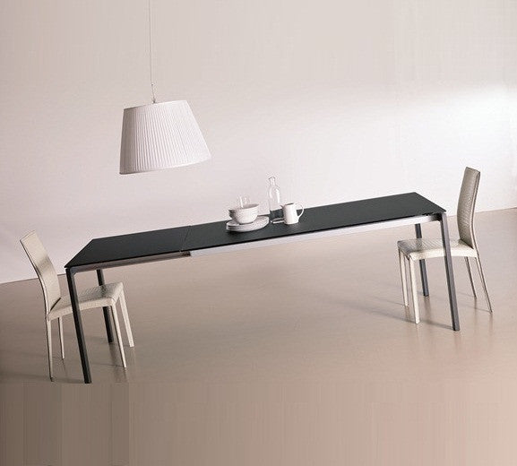 KEYO DINING TABLE - Gray  glass top