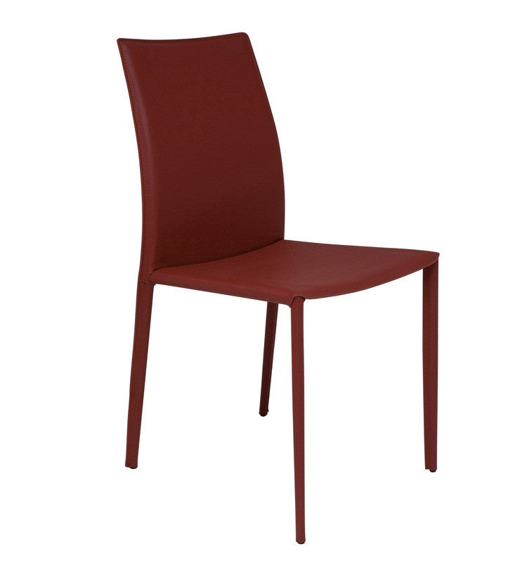 SIENNA DINING CHAIR - Leather upholstery