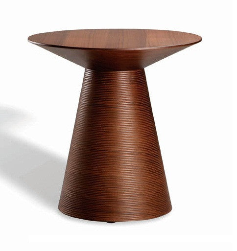 ANIKA SIDE TABLE Tan Walnut