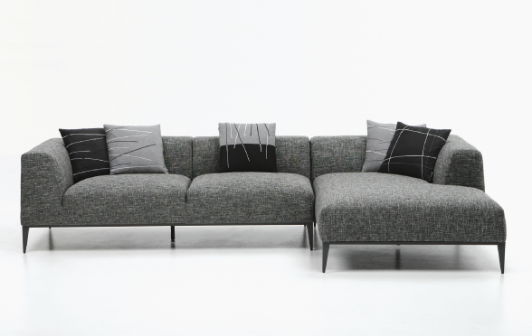 MANHATTAN SECTIONAL SOFA - Light Gray : modern sectionals - Sectionals, Sofas & Couches