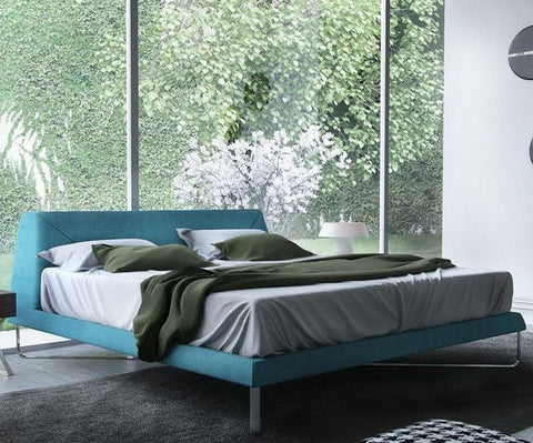 ODESSA BED - Caneel Bay Blue Fabric