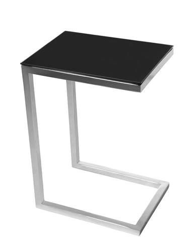 SAFARI CEE GLASS SIDE TABLE - Black