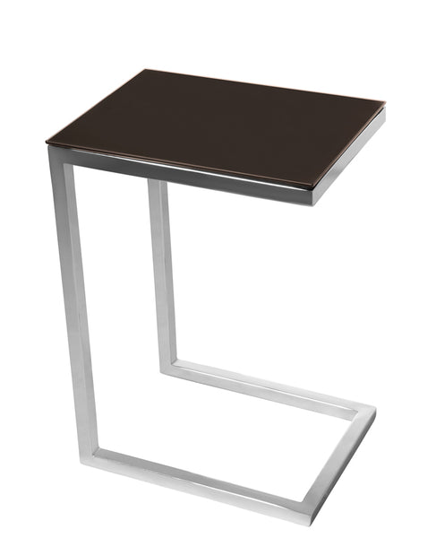 SAFARI CEE GLASS SIDE TABLE - Wengue