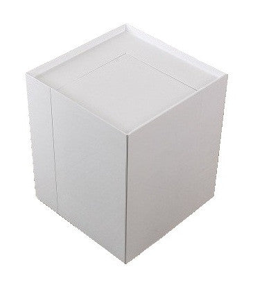 MODERN END TABLE/ MINI BAR -  White