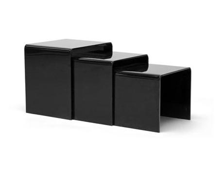 ACRYLIC SIDE TABLE - Black