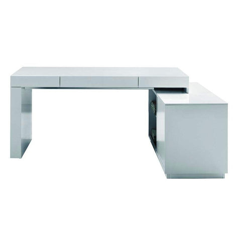 SOUL MODERN OFFICE DESK WITH ATTACHED CABINET