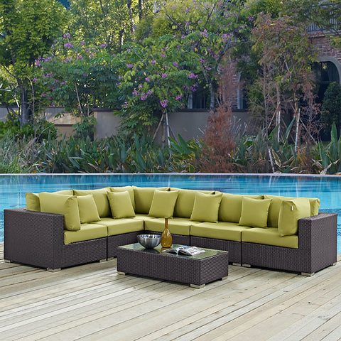 Awesome CONVENE 7 PIECE OUTDOOR PATIO SECTIONAL SET
