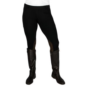 Vintage Fuzzy Logic Equine Cargo Tights Winter Weight (Knee Patch)