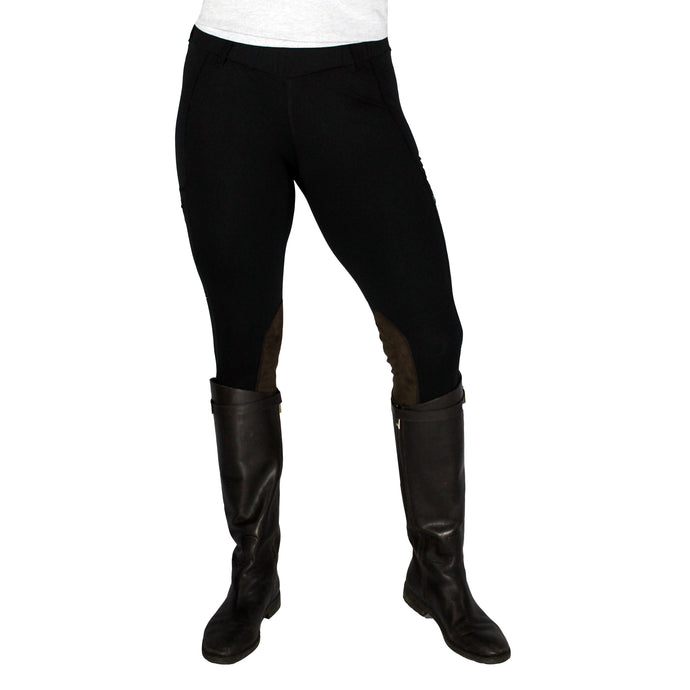 Vintage Fuzzy Logic Equine Cargo Tights Summer Weight (Knee Patch)