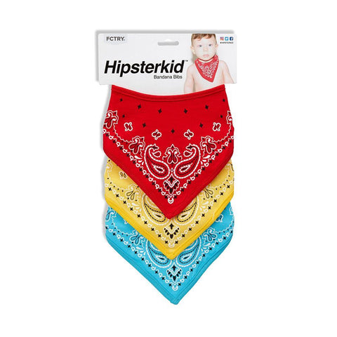 Hipster Bandana Bibs Set of 3
