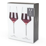 Raye: Crystal Bordeaux Glass Set By Viski