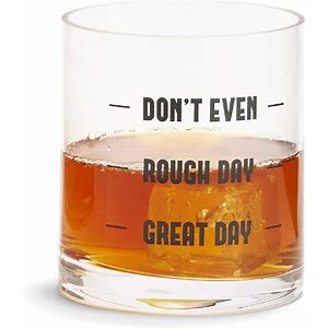 """Don't EVEN"" Double Old Fashion (DOF) Glass"