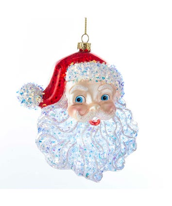 Glass Santa Head Ornament