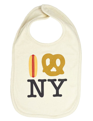 I Hot Dog Pretzel NY Bib