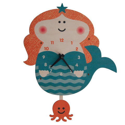 Mermaid 3D Pendulum Clock by Modern Moose