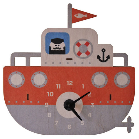 Tugboat 3D Shelf Clock by Modern Moose