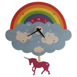 Unicorn 3D Pendulum Clock by Modern Moose