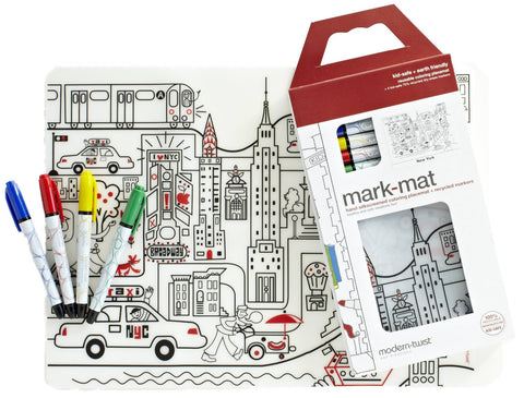 NYC Placemat & Marker Set