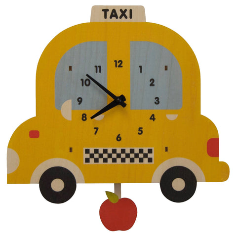 Taxi 3D Pendulum Clock by Modern Moose
