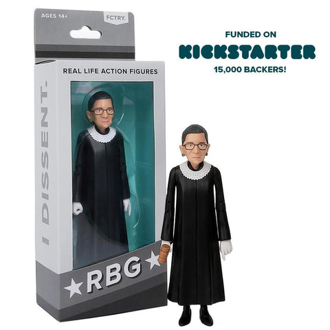 Justice Ruth Bader Ginsburg RBG Real Life Action Figure