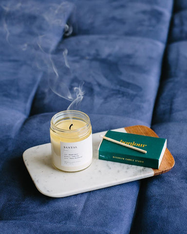 """Santal"" Minimalist Candle"