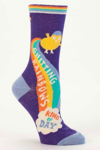 """Shitting Rainbows"" Women's Socks"