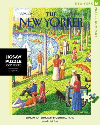 New Yorker Sunday Afternoon in Central Park - 1000 Piece Jigsaw Puzzle