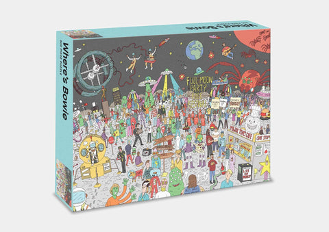 Where's Bowie? Bowie in Space: 500 Piece Jigsaw Puzzle Game