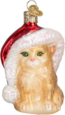 Santa's Kitten Ornament