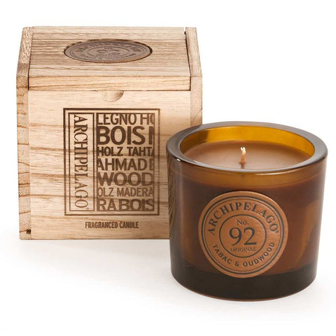 Archipelago Botanicals Wooden Boxed Candle Tabac & Oudwood