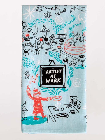 Artist At Work Dish Towel