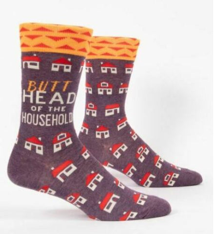 """Butthead Of The Household"" Men's Socks"