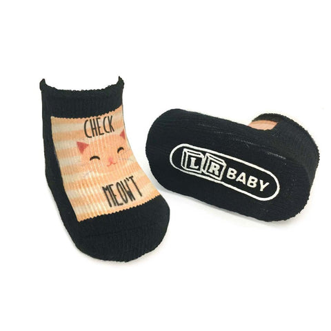 Check Meow't Baby Socks