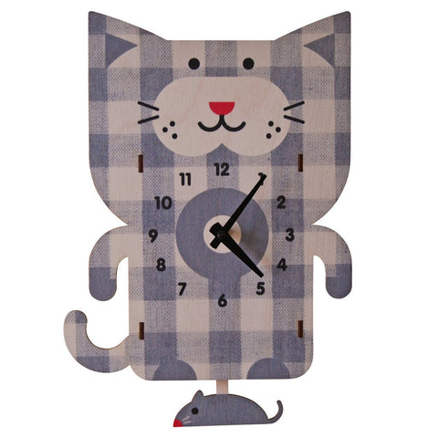 Cat 3D Pendulum Clock by Modern Moose